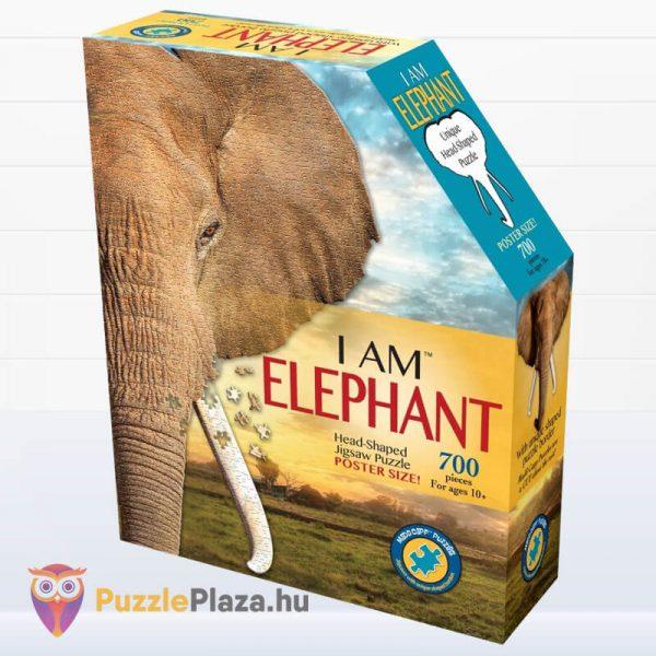 700 darabos elefánt forma puzzle, Wow Toys doboz
