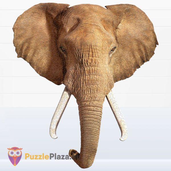 700 darabos elefánt forma puzzle, Wow Toys kirakott kép
