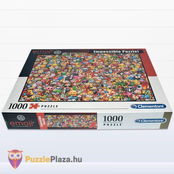 1000 darabos Emoji Lehetetlen Puzzle. Clementoni 39388 fektetve