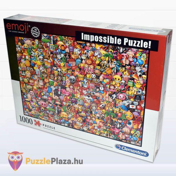 1000 darabos Emoji Lehetetlen Puzzle. Clementoni 39388 balról
