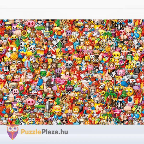 1000 darabos Emoji Lehetetlen Puzzle. Clementoni 39388 kirakott kép
