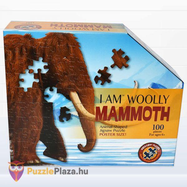 Gyapjas mamut forma puzzle junior 100 db-os doboza a Wow Toys-tól