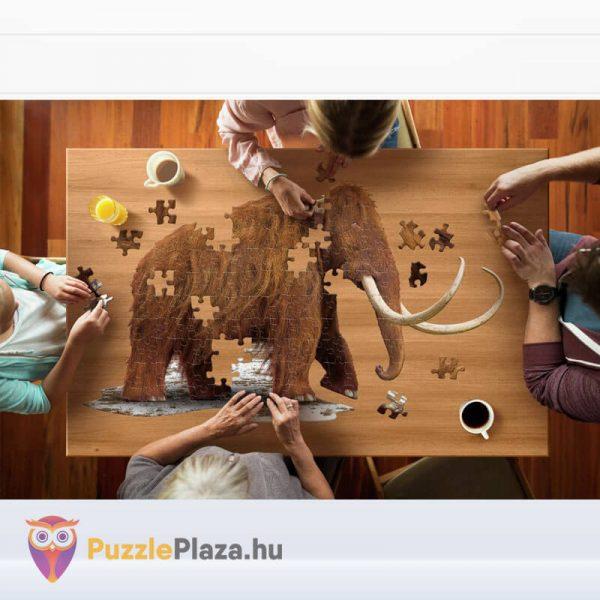 Gyapjas mamut forma puzzle junior 100 db-os kirakózás közben a Wow Toys-tól