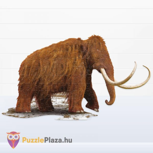Gyapjas mamut forma puzzle junior 100 db-os kirakott képe a Wow Toys-tól