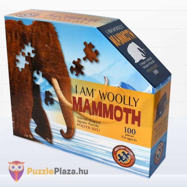 Gyapjas mamut forma puzzle junior 100 db-os doboza oldalról a Wow Toys-tól