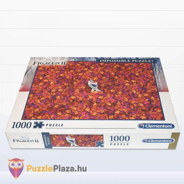 1000 db-os A Lehetetlen Puzzle (Impossible Puzzle) - Jégvarázs, Olaf fektetve