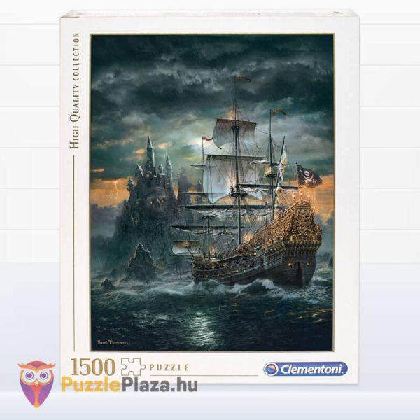 1500 darabos kalózhajó puzzle - clementoni 31682 doboza
