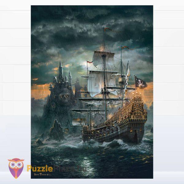 1500 darabos kalózhajó puzzle - clementoni 31682 kirakott kép