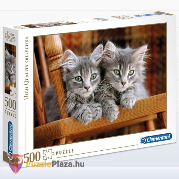 500 darabos kiscicák puzzle, clementoni 30545