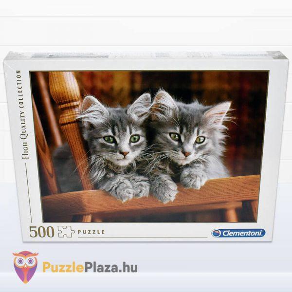 500 darabos kiscicák puzzle, clementoni 30545 doboz előről