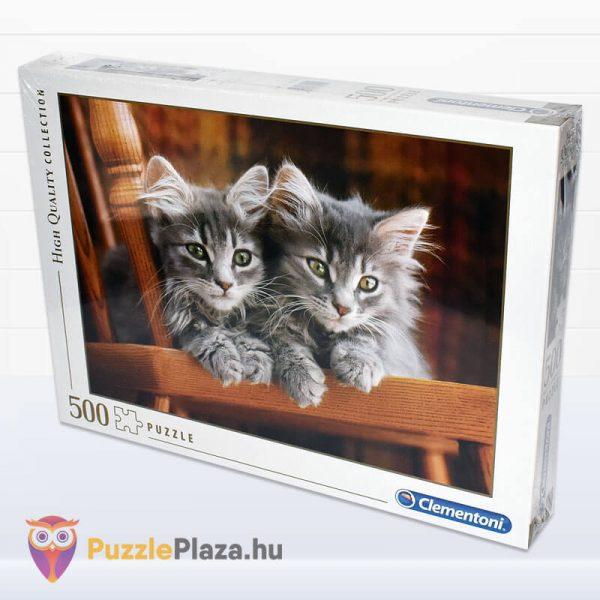 500 darabos kiscicák puzzle, clementoni 30545 oldalról