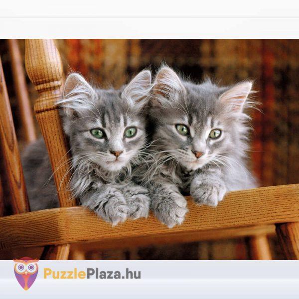 500 darabos kiscicák puzzle, clementoni 30545 kirakott kép
