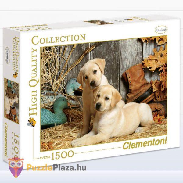 1500 darabos labdradorok puzzle. Clementoni 31976
