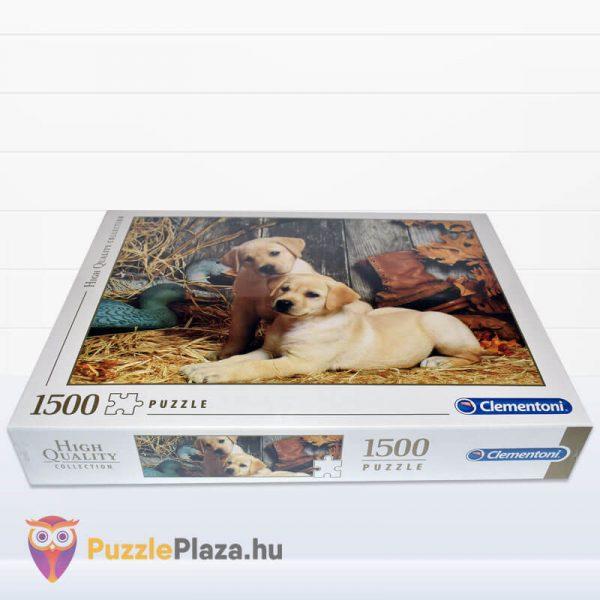 1500 darabos labdradorok puzzle. Clementoni 31976 fektetve
