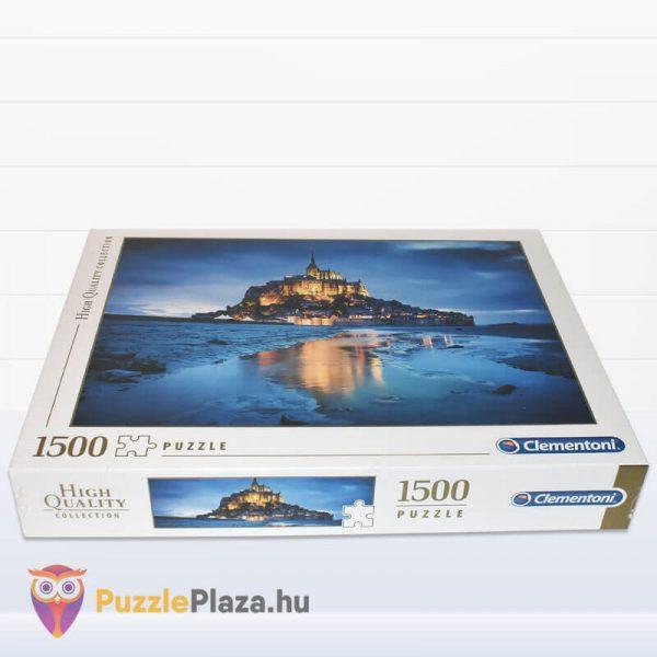1500 db-os Le Mont Saint Michel Puzzle - Clementoni 31994 fektetve
