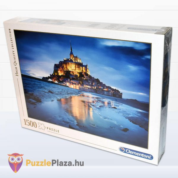 1500 db-os Le Mont Saint Michel Puzzle - Clementoni 31994 oldalról