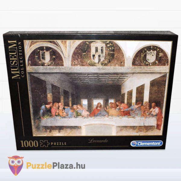 Leonardo Da Vinci - Az utolsó vacsora Puzzle - Museum Collection - Clementoni 31447 csomagolás
