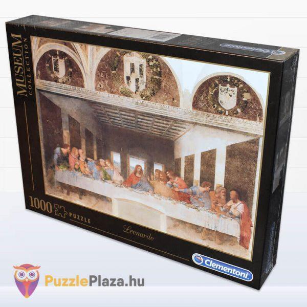 Leonardo Da Vinci - Az utolsó vacsora Puzzle - Museum Collection - Clementoni 31447 oldalról