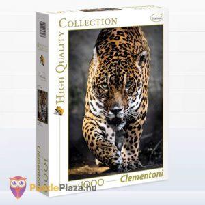 1000 darabos lesben álló jaguár puzzle, Clementoni 39326