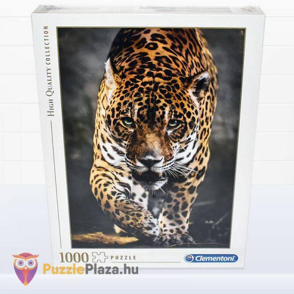 1000 darabos lesben álló jaguár puzzle, Clementoni 39326 doboza