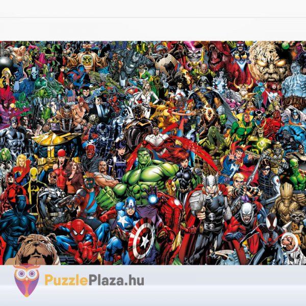 1000 darabos Marvel lehetetlen puzzle. Clementoni 39411 kirakott képe