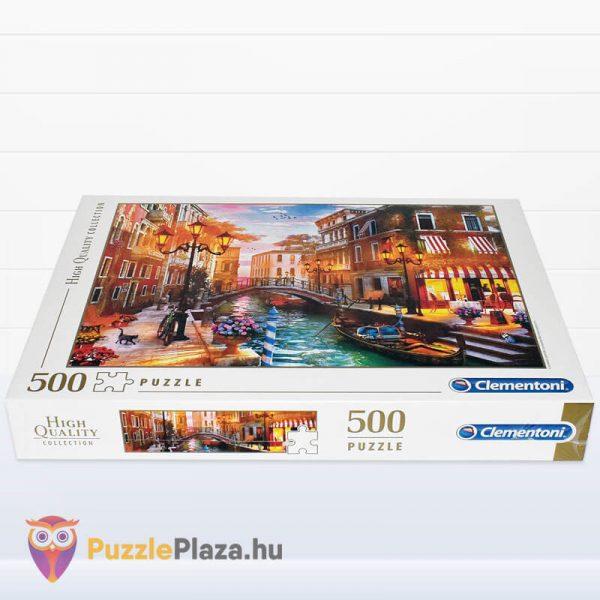 500 db-os Naplemente Velencében Puzzle, Clementoni 35063 fektetve