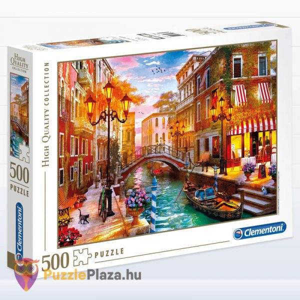 500 db-os Naplemente Velencében Puzzle, Clementoni 35063 balról