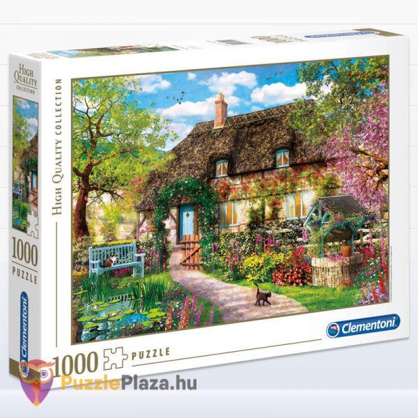 1000 darabos öreg kunyhó puzzle, Clementoni High Quality Collection 39520 doboz