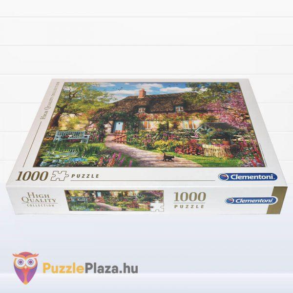 1000 darabos öreg kunyhó puzzle, Clementoni High Quality Collection 39520 fektetve