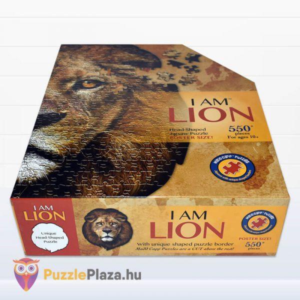 Oroszlán formájú puzzle 550 darabos, Wow Toys fektetve