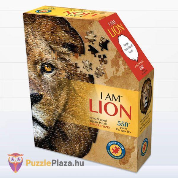 Oroszlán formájú puzzle 550 darabos, Wow Toys doboza