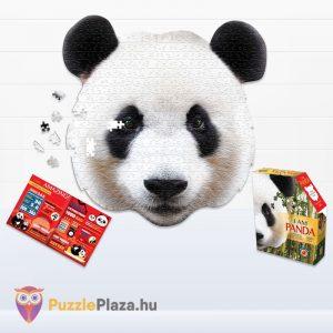 550 darabos panda fej formájú puzzle, wow toys