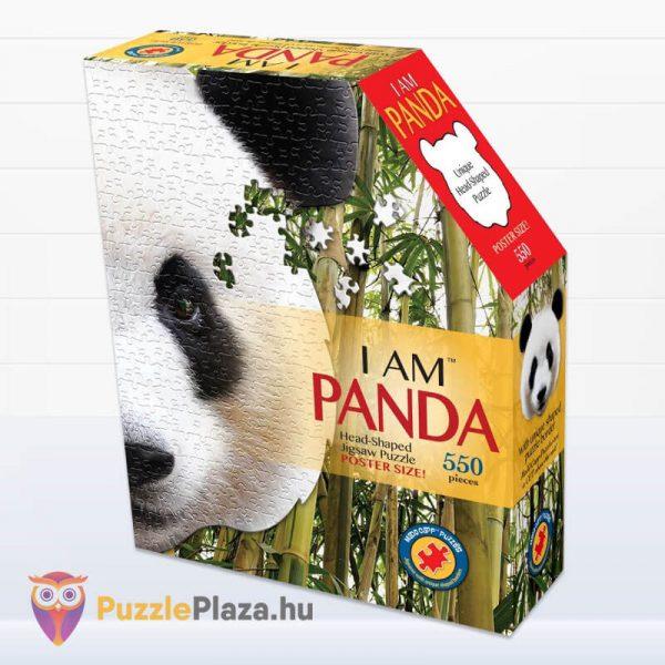 550 darabos panda fej formájú puzzle, wow toys doboza