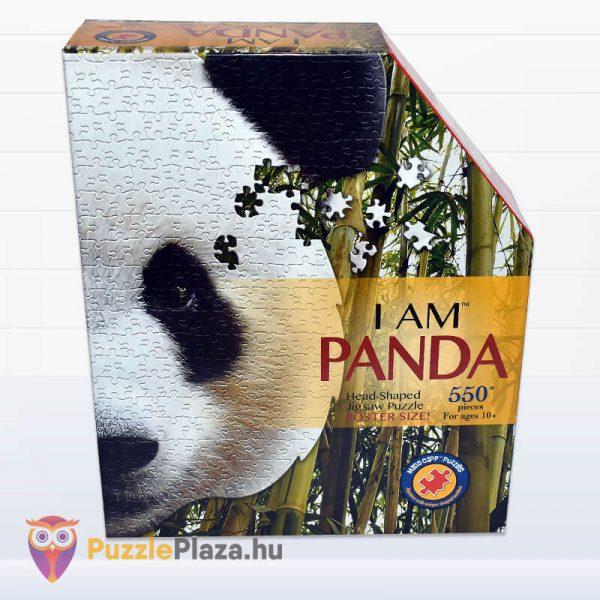 550 darabos panda fej formájú puzzle, wow toys előről
