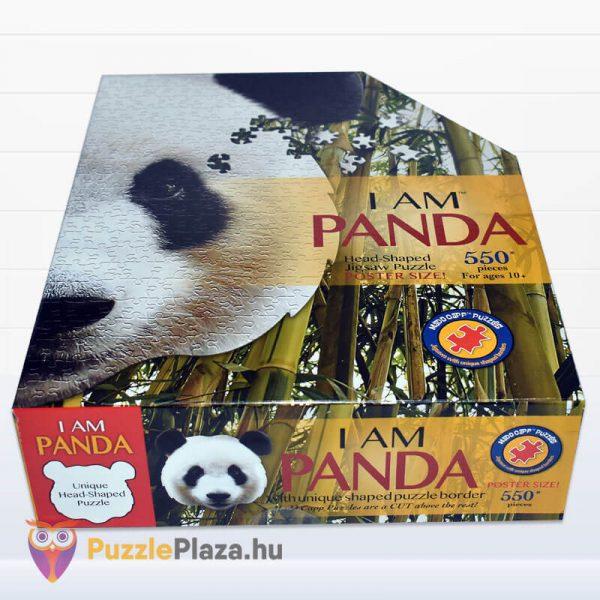 550 darabos panda fej formájú puzzle, wow toys fektetve