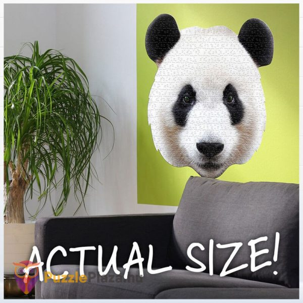 550 darabos panda fej formájú puzzle, wow toys kirakó a falon