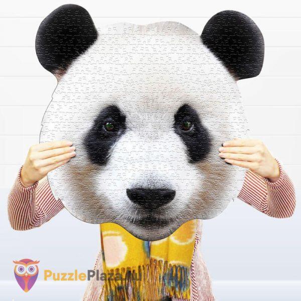 550 darabos panda fej formájú puzzle, wow toys kirakó a kézben