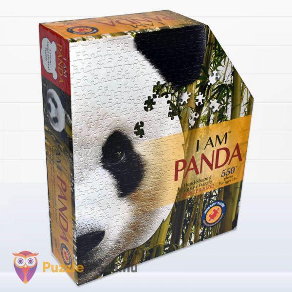 550 darabos panda fej formájú puzzle, wow toys jobbról