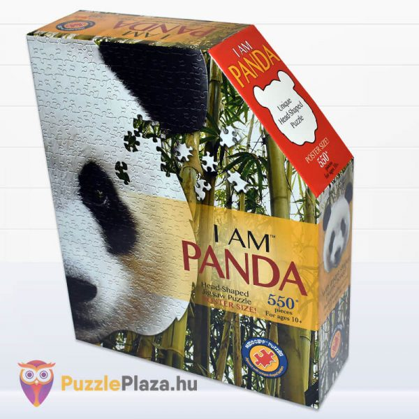550 darabos panda fej formájú puzzle, wow toys balról