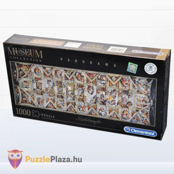 1000 darabos Sixtus Kápolna - Michelangelo Museum Collection Puzzle - Clementoni 39498 balról
