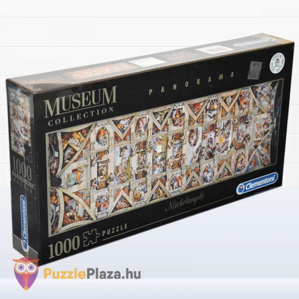 1000 darabos Sixtus Kápolna - Michelangelo Museum Collection Puzzle - Clementoni 39498 jobbról