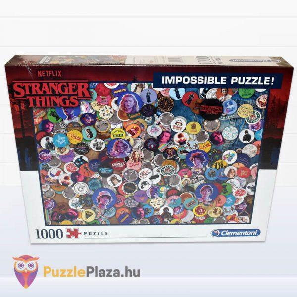 1000 darabos Stranger Things Lehetetlen Puzzle. Clementoni 39528 előről
