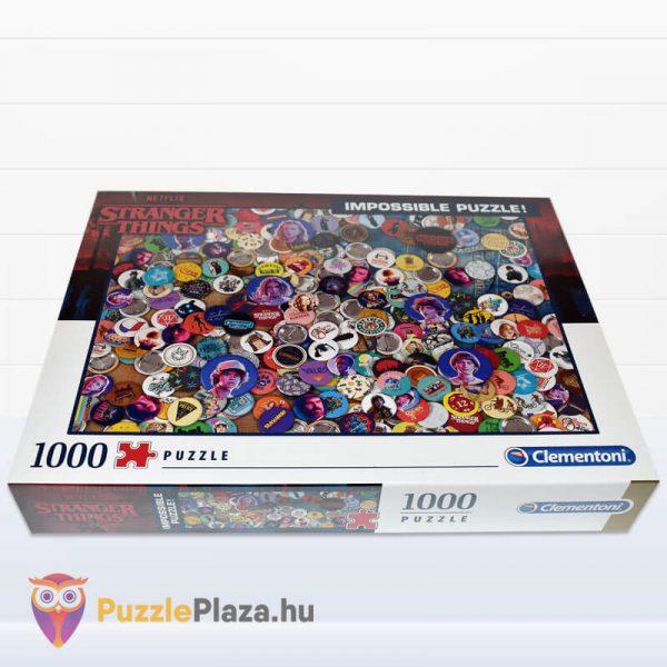 1000 darabos Stranger Things Lehetetlen Puzzle. Clementoni 39528 fektetve