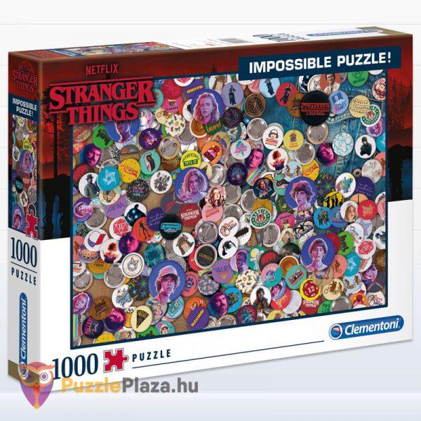 1000 darabos Stranger Things Lehetetlen Puzzle. Clementoni 39528