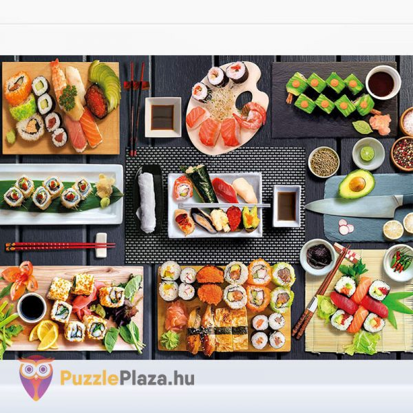 500 darabos sushi puzzle - clementoni 35064 kirakott kép