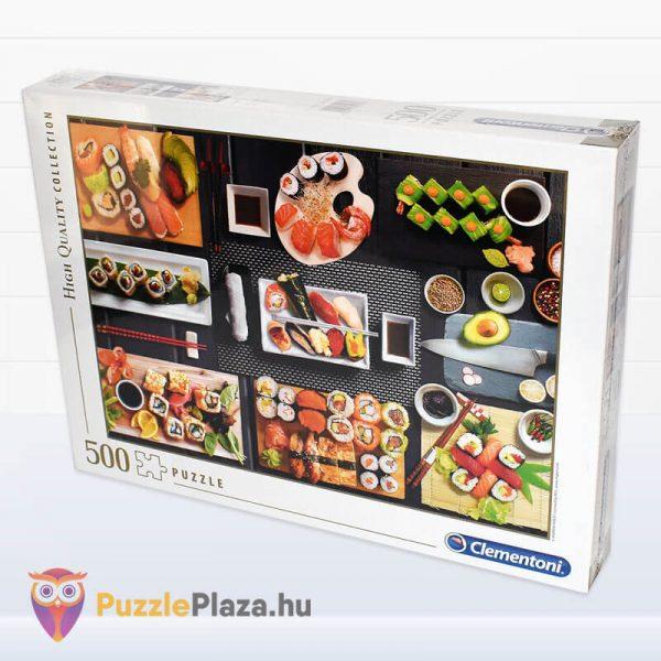 500 darabos sushi puzzle - clementoni 35064 oldalról
