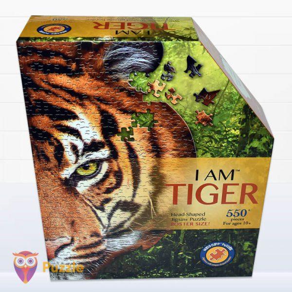 550 darabos tigris fej formájú puzzle, wow toys előről