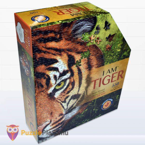 550 darabos tigris fej formájú puzzle, wow toys oldalról 1