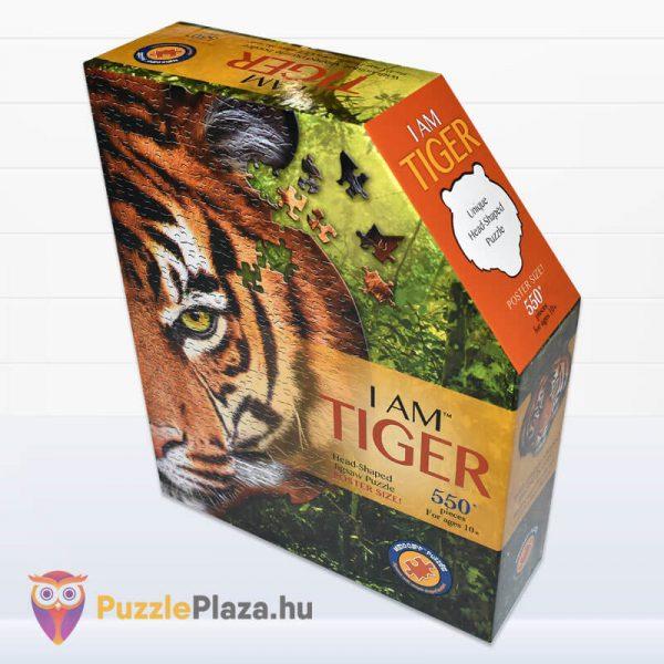 550 darabos tigris fej formájú puzzle, wow toys oldalról 2