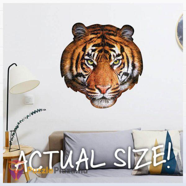 550 darabos tigris fej formájú puzzle, wow toys kirakó a falon